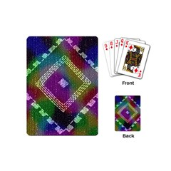 Embroidered Fabric Pattern Playing Cards (mini)