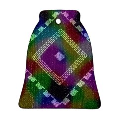 Embroidered Fabric Pattern Bell Ornament (Two Sides)