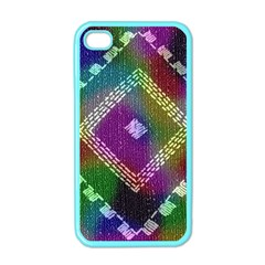 Embroidered Fabric Pattern Apple Iphone 4 Case (color)