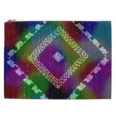 Embroidered Fabric Pattern Cosmetic Bag (XXL)