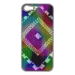 Embroidered Fabric Pattern Apple Iphone 5 Case (silver)