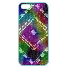 Embroidered Fabric Pattern Apple Seamless Iphone 5 Case (color)
