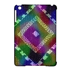 Embroidered Fabric Pattern Apple Ipad Mini Hardshell Case (compatible With Smart Cover)
