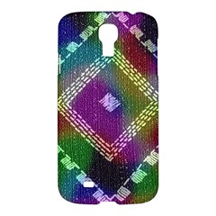 Embroidered Fabric Pattern Samsung Galaxy S4 I9500/I9505 Hardshell Case