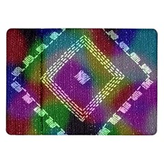 Embroidered Fabric Pattern Samsung Galaxy Tab 10.1  P7500 Flip Case