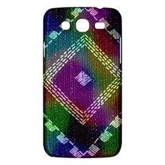 Embroidered Fabric Pattern Samsung Galaxy Mega 5.8 I9152 Hardshell Case