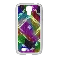 Embroidered Fabric Pattern Samsung Galaxy S4 I9500/ I9505 Case (white)