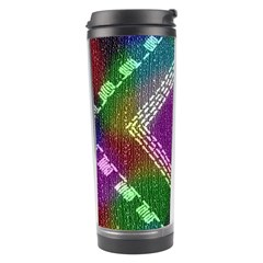 Embroidered Fabric Pattern Travel Tumbler
