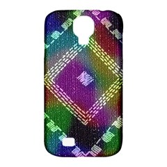 Embroidered Fabric Pattern Samsung Galaxy S4 Classic Hardshell Case (pc+silicone)