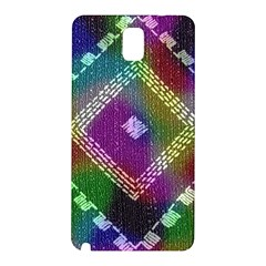Embroidered Fabric Pattern Samsung Galaxy Note 3 N9005 Hardshell Back Case