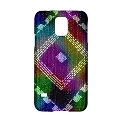 Embroidered Fabric Pattern Samsung Galaxy S5 Hardshell Case