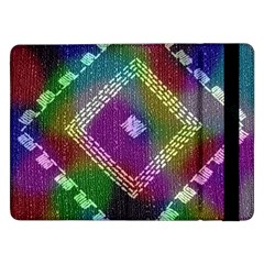 Embroidered Fabric Pattern Samsung Galaxy Tab Pro 12.2  Flip Case