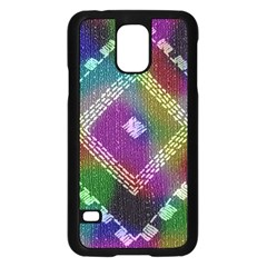 Embroidered Fabric Pattern Samsung Galaxy S5 Case (black)