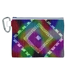 Embroidered Fabric Pattern Canvas Cosmetic Bag (L)