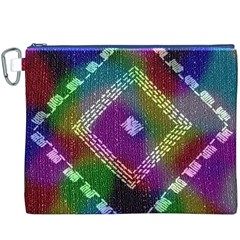 Embroidered Fabric Pattern Canvas Cosmetic Bag (XXXL)