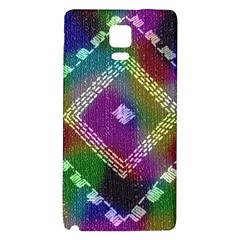 Embroidered Fabric Pattern Galaxy Note 4 Back Case
