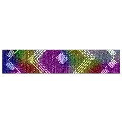 Embroidered Fabric Pattern Flano Scarf (small)