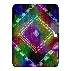 Embroidered Fabric Pattern Samsung Galaxy Tab 4 (10.1 ) Hardshell Case
