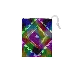 Embroidered Fabric Pattern Drawstring Pouches (XS)
