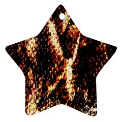 Fabric Yikes Texture Ornament (Star)