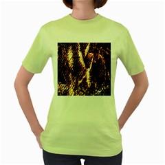 Fabric Yikes Texture Women s Green T-Shirt