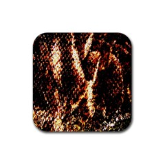 Fabric Yikes Texture Rubber Coaster (square)