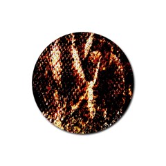 Fabric Yikes Texture Rubber Round Coaster (4 Pack)
