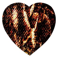 Fabric Yikes Texture Jigsaw Puzzle (Heart)