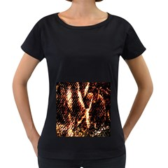 Fabric Yikes Texture Women s Loose-Fit T-Shirt (Black)