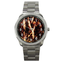 Fabric Yikes Texture Sport Metal Watch