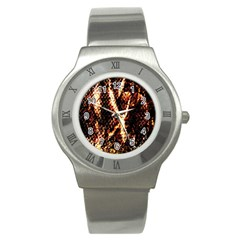 Fabric Yikes Texture Stainless Steel Watch