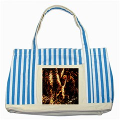 Fabric Yikes Texture Striped Blue Tote Bag