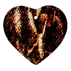 Fabric Yikes Texture Heart Ornament (Two Sides)