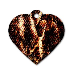 Fabric Yikes Texture Dog Tag Heart (One Side)