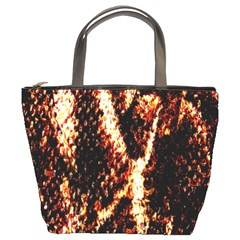 Fabric Yikes Texture Bucket Bags
