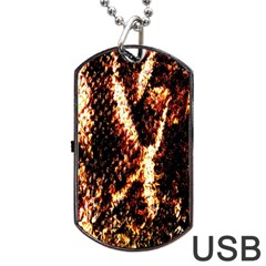 Fabric Yikes Texture Dog Tag USB Flash (Two Sides)