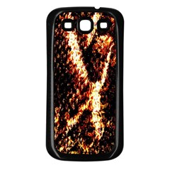 Fabric Yikes Texture Samsung Galaxy S3 Back Case (black)