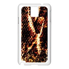 Fabric Yikes Texture Samsung Galaxy Note 3 N9005 Case (White)