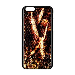 Fabric Yikes Texture Apple Iphone 6/6s Black Enamel Case