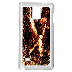 Fabric Yikes Texture Samsung Galaxy Note 4 Case (White)
