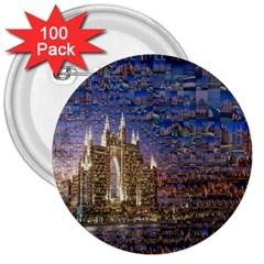 Dubai 3  Buttons (100 pack)