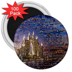 Dubai 3  Magnets (100 Pack)