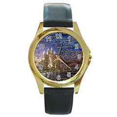 Dubai Round Gold Metal Watch
