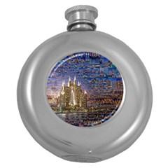 Dubai Round Hip Flask (5 oz)