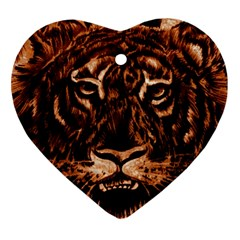 Eye Of The Tiger Ornament (Heart)