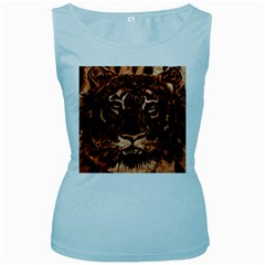 Eye Of The Tiger Women s Baby Blue Tank Top