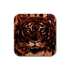 Eye Of The Tiger Rubber Coaster (square)