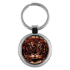 Eye Of The Tiger Key Chains (Round)