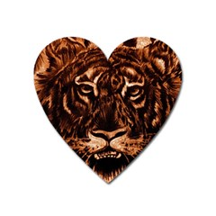 Eye Of The Tiger Heart Magnet
