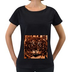 Eye Of The Tiger Women s Loose-Fit T-Shirt (Black)